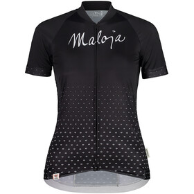 Maloja HaslmausM. 1/2 Short Sleeve Bike Jersey Women, czarny